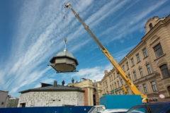 Часовня на Сенной площади Петербурга обрела новый купол