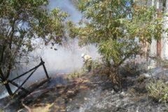 Открытое горение в жилом секторе Ростова-на-Дону ликвидировано