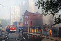 Пожар в Ростове-на-Дону локализован на всей площади возгорания