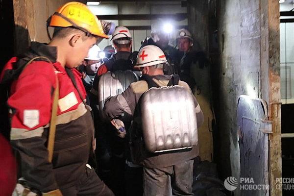 """Спасатели определили возможное местонахождение горняков на руднике """"Мир"""""""