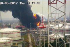 На нефтеперерабатывающем заводе в Нижегородской области произошел пожар