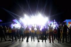 Актер с синдромом Дауна выступил на открытии Всемирного фестиваля молодежи