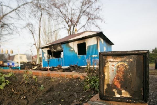 В Ростове-на-Дону сожгли храм в честь Донской иконы Божией Матери