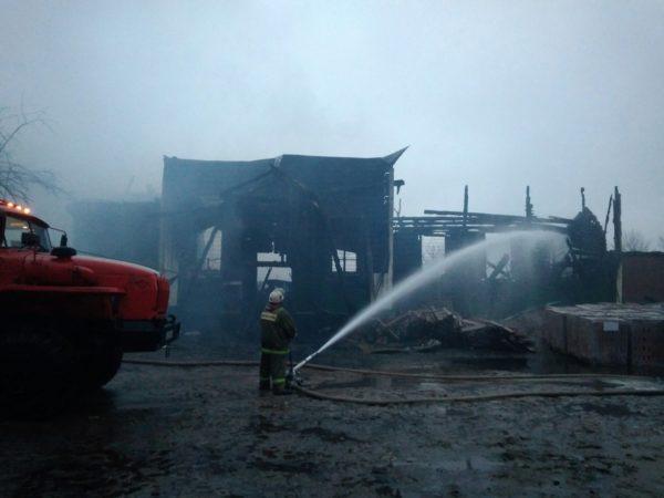 В Рязанской области сгорел старинный храм Преображения Господня