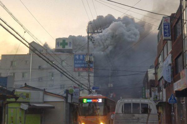 Более 40 человек погибли при пожаре в южнокорейской больнице