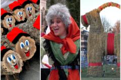 Соломенный козел, рождественская ведьма и вертеп из редиски