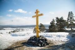На трассе «Байкал» установили крест в память о погибших в 2017 году паломниках