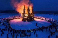 Автор напоминающего «собор» сожженного арт-объекта извинился перед христианами за невольную обиду
