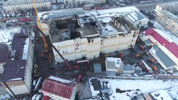 В Кемерове начали сносить ТЦ «Зимняя вишня»