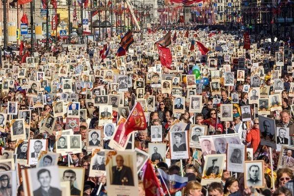 В акции «Бессмертный полк» поучаствовали больше 10 млн россиян