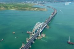 Митрополит Феодосийский освятил Крымский мост во время научной экспедиции