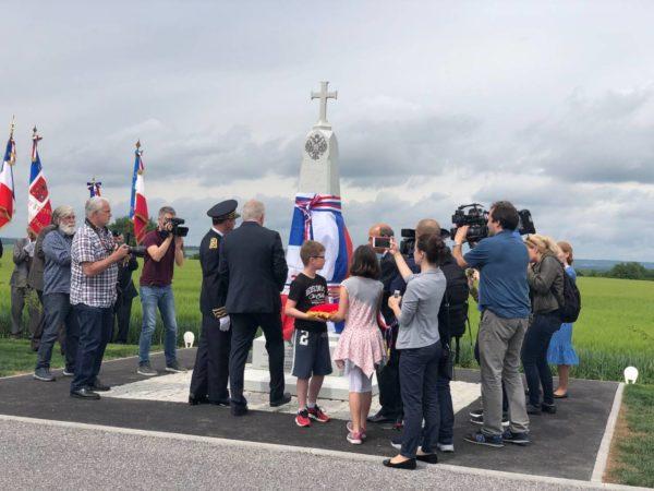 Во Франции установлен памятник русским солдатам Первой мировой войны