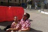 Хорватские болельщики «помогли» заасфальтировать яму в Нижнем Новгороде