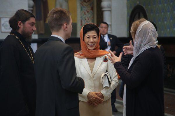 «Это особое место»: Японская принцесса посетила в Екатеринбурге храм памяти семьи Романовых