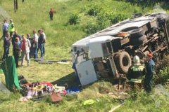 Поезд столкнулся с автобусом под Орлом: 4 погибших, 12 пострадавших