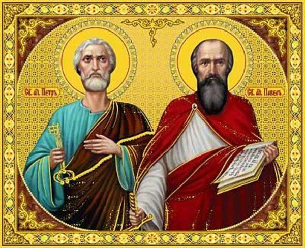 Церковь празднует память святых первоверховных апостолов Петра и Павла