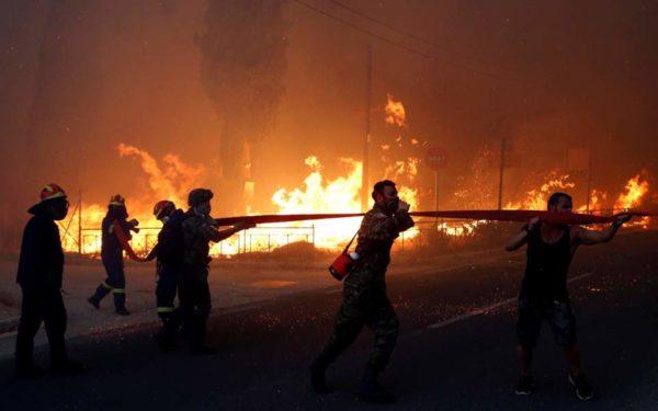 Катастрофические пожары в Греции: 74 погибших, много раненых, трехдневный траур в стране