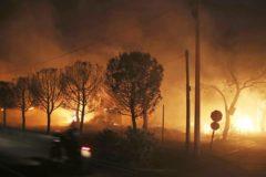 В Греции бушуют лесные пожары: Погибли 50 человек , более 100 получили ранения