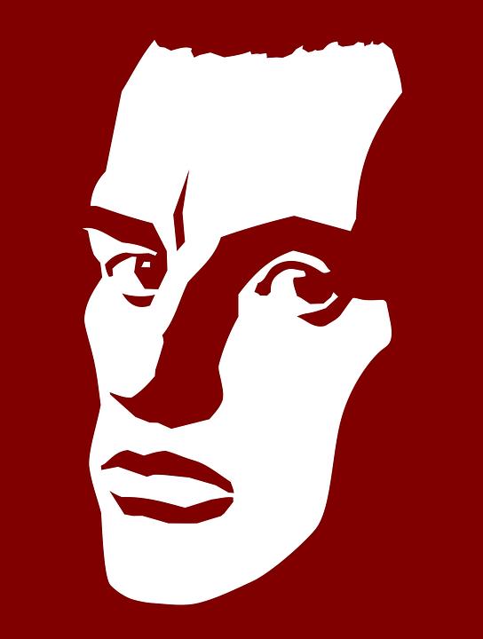 Рисунок маяковского красный