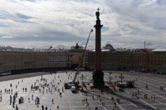 Ангела с Александровской колонны помыли впервые за 17  лет