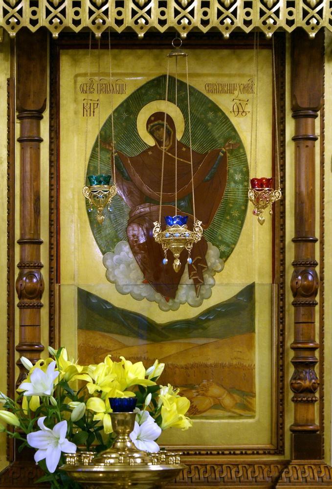 """Икона Божией Матери """"Спорительница хлебов"""" из Введенского собора Оптиной Пустыни"""