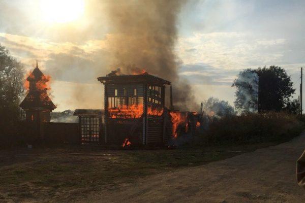 В Верхне-Чусовской женской пустыни произошел пожар, погиб человек
