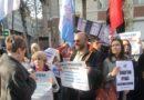 Независимые объединения медработников провели пикет у здания Минздрава