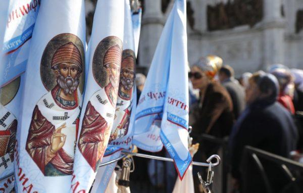 Московские бездомные могут поклониться мощам святого Спиридона