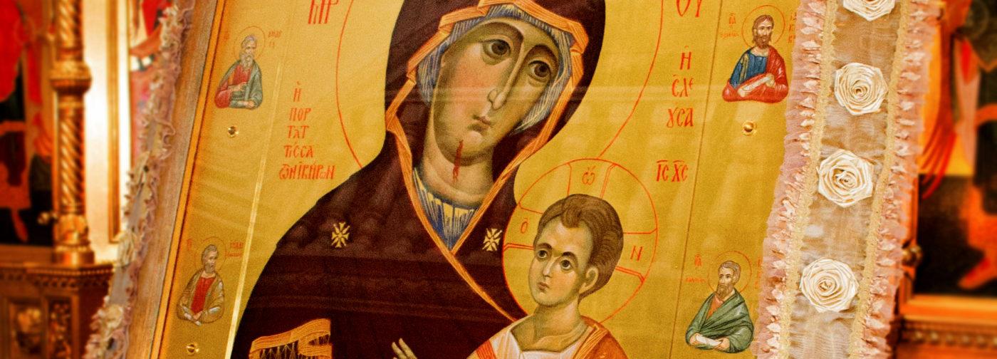 Иверская икона Божией Матери «Вратарница» – с пронзенным ликом