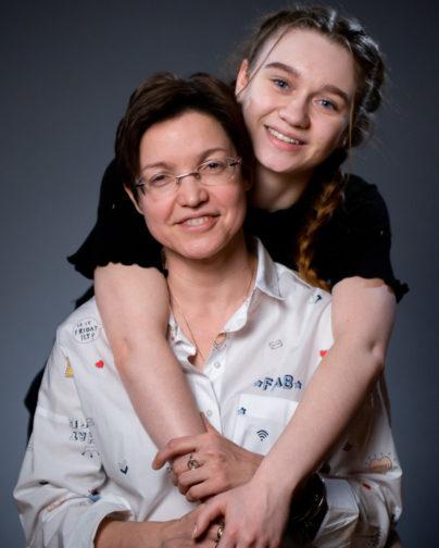 Светлана Строганова с приемной дочерью Полиной