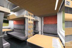 Зоны персонального комфорта, USB-розетки и пеленальные столики – в РЖД показали новые плацкартные вагоны