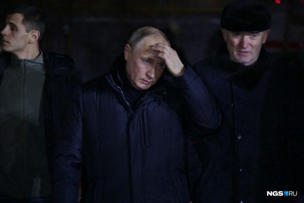 В Магнитогорск прилетел Владимир Путин