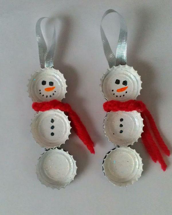 Новогодние поделки своими руками - снеговики