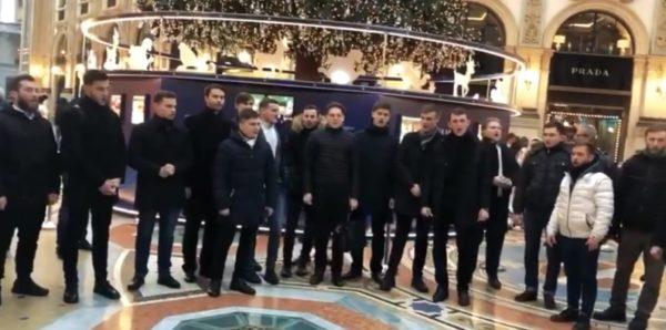 В Милане прошел рождественский флешмоб в поддержку Украинской Православной Церкви — видео