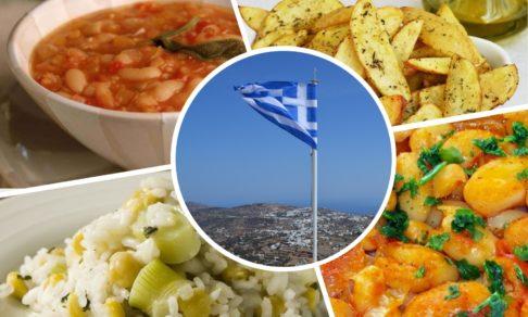 Пост по-гречески - лук, картофель, бобовые