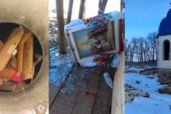 Вандалы разгромили часовню УПЦ в Житомирской области