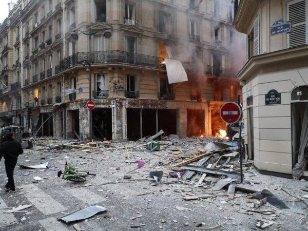 В парижском магазине произошел сильный взрыв