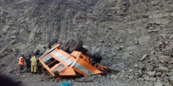 На шахте в Кемеровской области упал с обрыва автобус, погибли шестеро