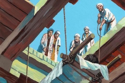 Расслабленного принесли ко Христу четверо друзей. Так и душа ждет, когда ей помогут