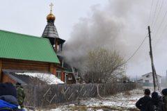 В Челябинской области во время пожара в храме пострадали шесть детей