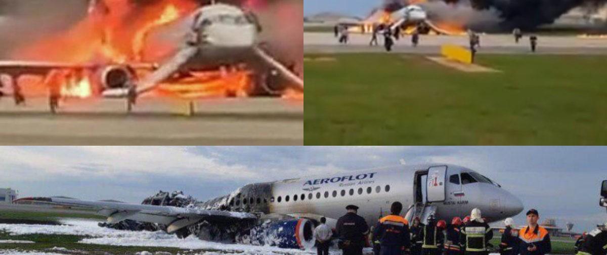 В Шереметьево при приземлении загорелся самолет. Главное