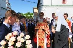 Патриарх Кирилл впервые посетил гимназию имени митрополита Платона (Левшина)