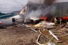 Пассажиры горящего Ан-24 помогли эвакуироваться слабовидящему человеку