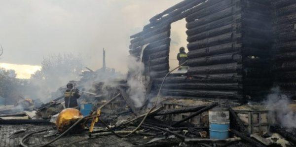 В Свято-Казанском Чимеевском монастыре сгорела деревянная церковь XIX века
