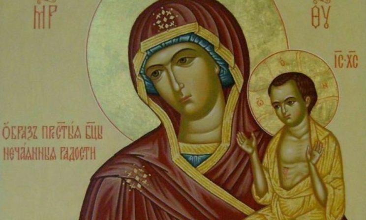 Икона Нечаянная Радость - образ Богоматери