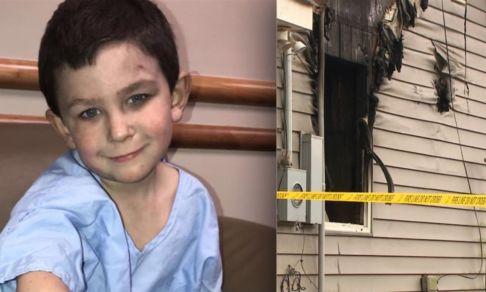 «Когда я проснулся, комната горела». Пятилетний мальчик спас из огня двухлетнюю сестру и еще семь человек