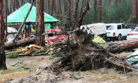 «Ветер смял палатку, а в ней были дети». В Красноярском крае ураган обрушился на лагерь туристов