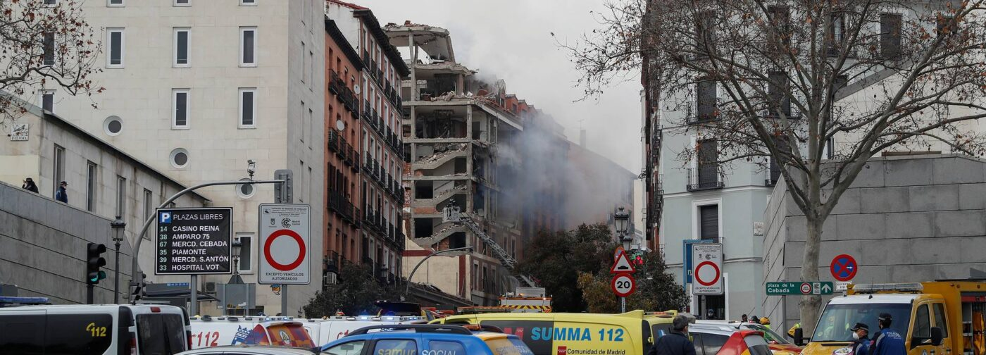 В центре Мадрида прогремел взрыв, погибли люди
