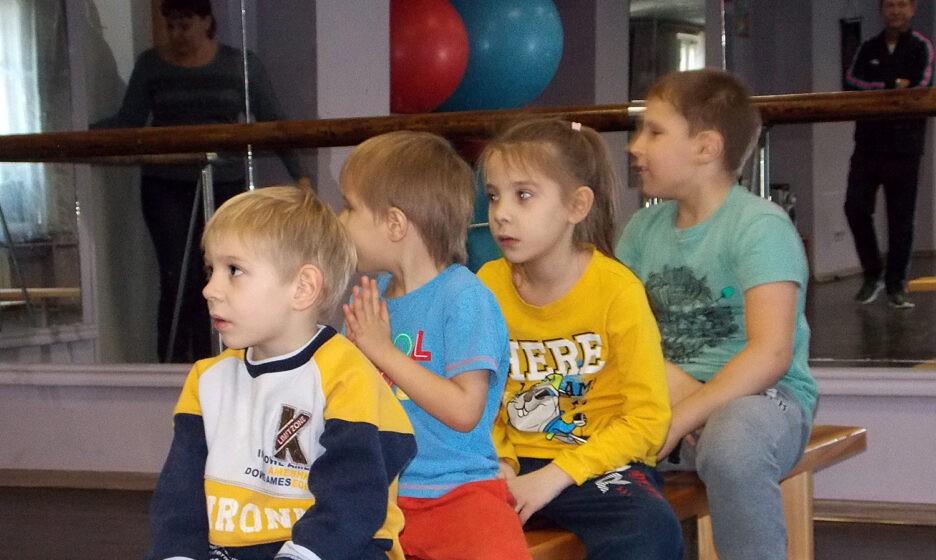Александр, Борис, Варвара и Кирилл на тренировке