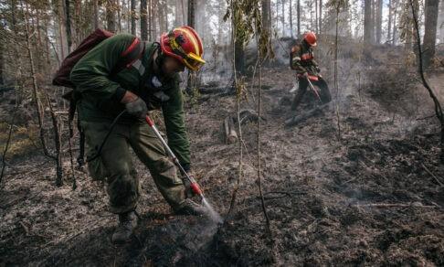«От раскаленной земли плавились сапоги». Как добровольцы тушат лесные пожары в Якутии